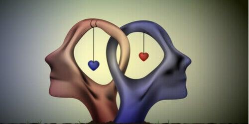 Etes-vous une personne sapiosexuelle ? Dessin de 2 cerveau avec coeur